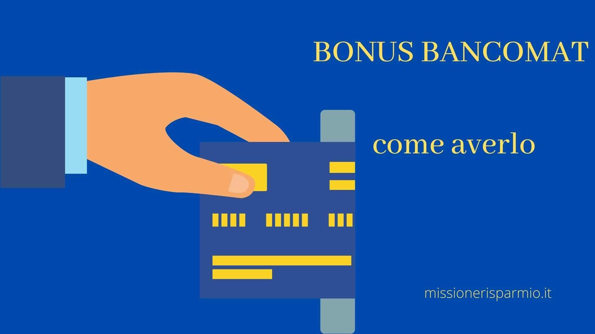 Arriva il Bonus bancomat da 480 euro